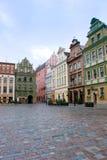 Grand dos du marché de Poznan, Pologne Photographie stock