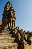 Grand dos durbar de Patan, bhaktapur, Népal images stock