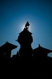 Grand dos durbar de Patan, bhaktapur, Népal photos stock