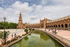Grand dos espagnol en Séville, Espagne Images libres de droits