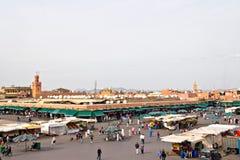 Grand dos principal de Marrakech Photographie stock libre de droits