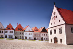 Grand dos principal de vieille ville européenne Images stock