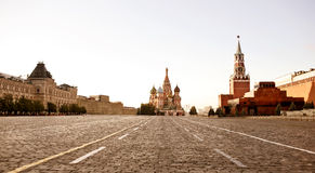Grand dos rouge à Moscou photographie stock libre de droits