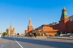 Grand dos rouge à Moscou Images libres de droits