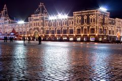 Grand dos rouge de Moscou Photo libre de droits