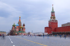Grand dos rouge de Moscou Photos libres de droits