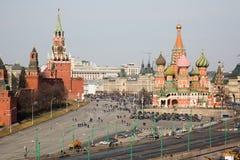 Grand dos rouge de Moscou Photos stock