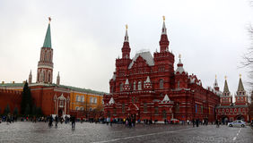 Grand dos rouge Moscou Photos libres de droits