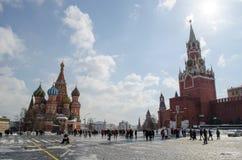 Grand dos rouge Moscou Photo libre de droits