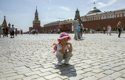Grand dos rouge Moscou Images stock