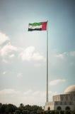 Grand drapeau des EAU Image stock