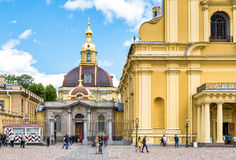 Grand Ducal Burial Vault Imperial house of Romanov in the Peter and Paul Cathedral. Is a located inside the Peter and Paul Fortress, Saint Petersburg, Russian Stock Images