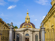 Grand Ducal Burial Vault in Peter and Paul Fortress. ST PETERSBURG, RUSSIA - JULY 28, 2015: Grand Ducal Burial Vault in Peter and Paul Fortress Royalty Free Stock Images