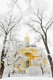Grand Ducal Mausoleum. The Grand Ducal Mausoleum in St. Peter and Paul Fortress, St.-Petersburg in the winter and fog Royalty Free Stock Photos
