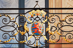 Grand Ducal Palace. Railing with coat of arms of Grand Ducal Palace, Luxembourg city Royalty Free Stock Photos