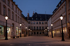 Grand Ducal Palace, Luxembourg. City night scene Royalty Free Stock Images