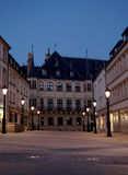 Grand Ducal Palace, Luxembourg. City night scene Royalty Free Stock Photo
