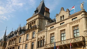 Grand Ducal Palace in Luxembourg stock footage