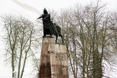 Grand Duke Gediminas with Horse Monument Royalty Free Stock Photography