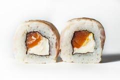 grand ensemble avec des sushi et des petits pains Image stock