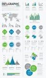 Grand ensemble d'éléments infographic d'affaires bleus et  Photographie stock