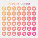 Grand ensemble d'icône d'industrie Image libre de droits