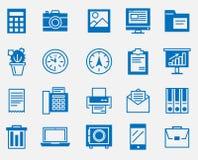 Grand ensemble d'icônes, bureau illustration stock