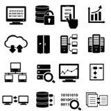 Grand ensemble d'icône de données Image stock