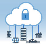 Grand ensemble d'icône de données, concept de calcul de nuage Illustration Libre de Droits