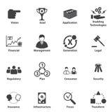 Grand ensemble d'icône de données, planification stratégique stratégique de service informatique d'affaires Photos stock