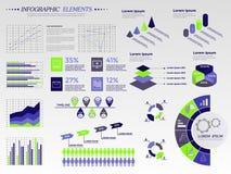 Grand ensemble d'infographics Photographie stock libre de droits