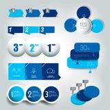 Grand ensemble de 3 étapes diagramme rond, graphique, diagramme, organigramme, calibre de bannière illustration de vecteur