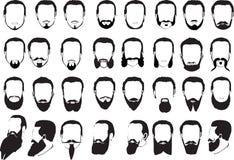 Grand ensemble de barbes des hommes Photo libre de droits