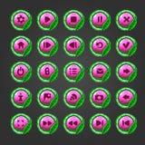 Grand ensemble de bouton pour le jeu design-10 Images stock