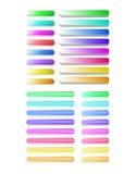 Grand ensemble de boutons colorés semi-transparents Photo stock