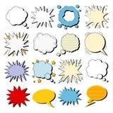 Grand ensemble de bulles de bandes dessinées dans le bruit Art Style illustration stock