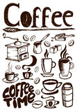 Grand ensemble de café Photo libre de droits