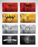 Grand ensemble de cartes de VIP Photographie stock libre de droits