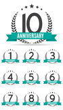Grand ensemble de collection de calibre Logo Anniversary Vector Illustrat illustration de vecteur