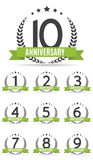 Grand ensemble de collection de calibre Logo Anniversary Vector Illustrat illustration stock
