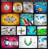Grand ENSEMBLE de concepts de construction plats de style pour la stratégie commerciale et la carrière Photos libres de droits