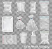 Grand ensemble de conditionnement en plastique de polypropylène illustration de vecteur
