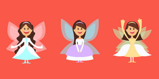 Grand ensemble de fées fantastiques de caractères, différents costumes pour la mascarade Vecteur illustration libre de droits