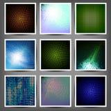 Grand ensemble de formations techniques de couleur Image stock