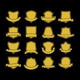 Grand ensemble de formes d'insigne de vecteur, collection d'éléments de conception pour créer des logos illustration de vecteur