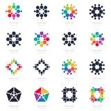Grand ensemble de logos abstraits Logotypes de vecteur, éléments de conception Image libre de droits
