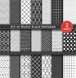 Grand ensemble de Pattern2 blanc noir Images stock
