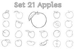 Grand ensemble de pommes Image stock