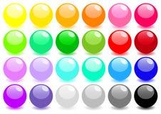 Grand ensemble de sphères colorées Photo stock