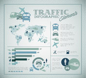 Grand ensemble de vecteur d'éléments d'Infographic de circulation Photographie stock libre de droits